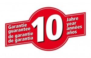 Rotes Logo mit 10 Jahre Herstellergarantie von Wolfcraft.