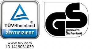 TÜV-/GS-Siegel